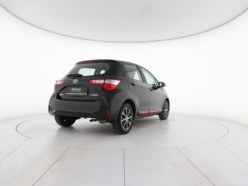 Toyota Yaris 5p 1.5 hybrid active my18 ibrido nero